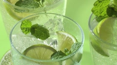 Pouring a Mojito Stock Footage