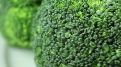 Broccoli on a plate Stock Footage