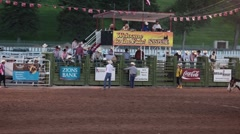 Rodeo bull rider thrown off P HD 9792 Stock Footage