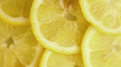 Lemon slices (macro zoom) Stock Footage