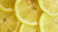 Lemon slices (macro zoom) Stock Footage
