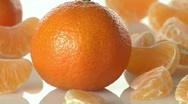Stock Video Footage of Whole clementines and segments