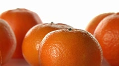 Clementine Segments with Whole Clementines - stock footage
