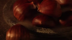 Hot chestnuts Stock Footage