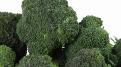 Broccoli florets laying down Stock Footage