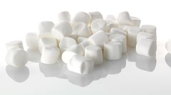 White marshmallows and chocolate chips Stock Footage