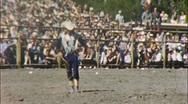 COWBOY ROPE TRICKS Western Rodeo 1950s (Vintage Film 8mm Home Movie) 365 Stock Footage