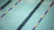 Stock Video Footage of Wavy water surface of track in swimming pool