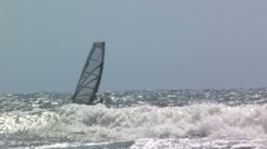 Wind surfer- nice ride Stock Footage