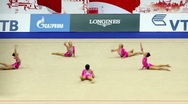 Stock Video Footage of Gymnasts on World Rhythmic Gymnastics Championships
