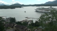 Ketchikan ,small town Stock Footage