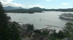 Ketchikan , busy tourist port Stock Footage