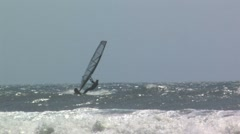 Solo wind surfer Stock Footage