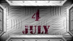 4 july on steel stamp - stock footage