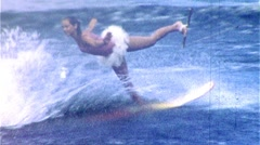 WATERSKI BALLET Dancer  Stunt Show 1950s Vintage Film Home Movie Footage 376 Stock Footage