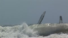 Two  wind surfers Stock Footage