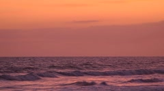 Seamless loop, sunset sky, sea horizon, lower third Stock Footage