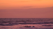 Stock Video Footage of seamless loop, sunset sky, sea horizon, lower third