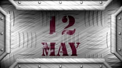 12 may on steel stamp Stock Footage