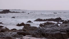 Asilomar Spring Ocean and Rocks Stock Footage
