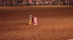 Little boy rodeo hide drag P HD 9905 Stock Footage