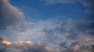 Stock Video Footage of Clouds on sky, sunset