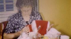 Women Play Accordion MUSIC INSTRUMENT Trumpet 1950S Vintage Film Home Movie 382 Stock Footage