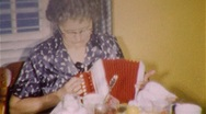 Stock Video Footage of Women Play Accordion MUSIC INSTRUMENT Trumpet 1950S Vintage Film Home Movie 382