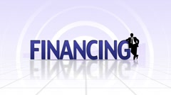 FINANCING Text, LOOP - HD1080 Stock Footage
