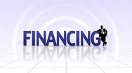 FINANCING Text, LOOP - HD1080 Stock Footage