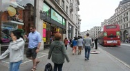 People shopping in London, UK Stock Footage
