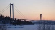 High Coast bridge in Västernorrland, Sweden Stock Footage