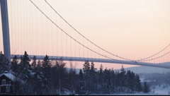Stock Video Footage of High Coast bridge in Västernorrland, Sweden