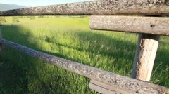 Wooden fence on a ranch Stock Footage