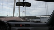 Stock Video Footage of Driving over the High Coast bridge in Västernorrland, Sweden