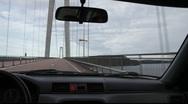 Driving over the High Coast bridge in Västernorrland, Sweden Stock Footage