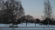 Winter afternoon in a swedish small town Stock Footage