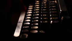 Typewriter - stock footage