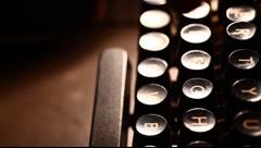 Typewriter - stock footage