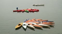 Rent a canoes 002 Stock Footage