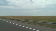 Fields during drive Stock Footage