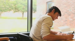 Students doing homework Stock Footage