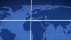Lines kohdistaminen paikalla maailmankartalla aukon kopio tilat Kuvapankki erikoistehosteet