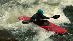 Whitewater kayaker Stock Footage