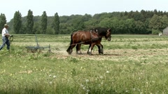 Plowing field Stock Footage