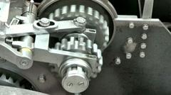 Gearing mechanism Stock Footage
