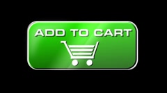 Online Shopping Add To Cart 02 green LOOP Stock Footage
