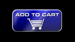 Online Shopping Add To Cart 03 blue LOOP Stock Footage