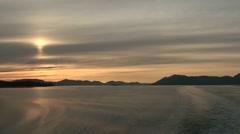 Shipboard sunset Stock Footage