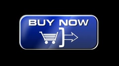 Online Shopping Buy Now 03 blue LOOP Stock Footage